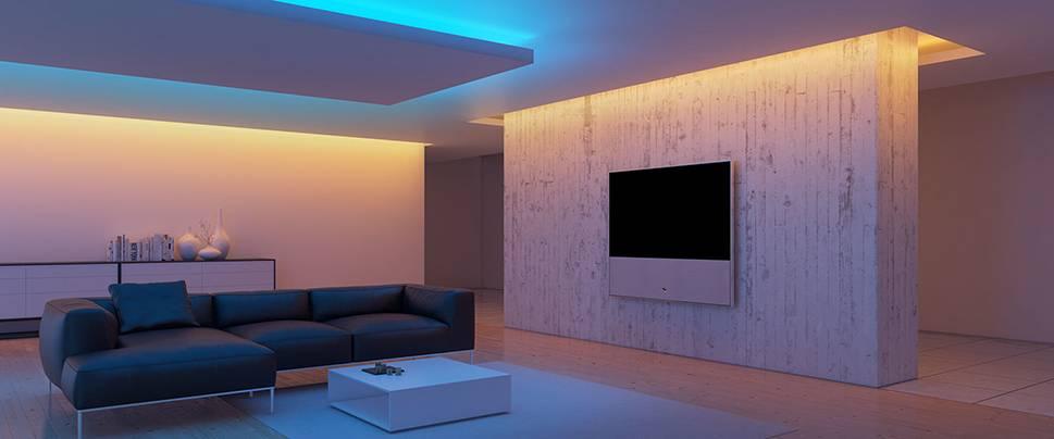 Неоновая подсветка потолка — преимущества и недостатки |