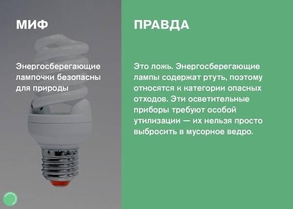 Содержание ртути в люминесцентных лампах - утилизация и переработка отходов производства