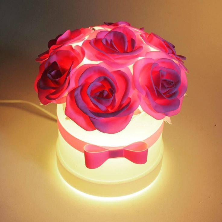 Светильник-роза своими руками (фото + мастер класс)