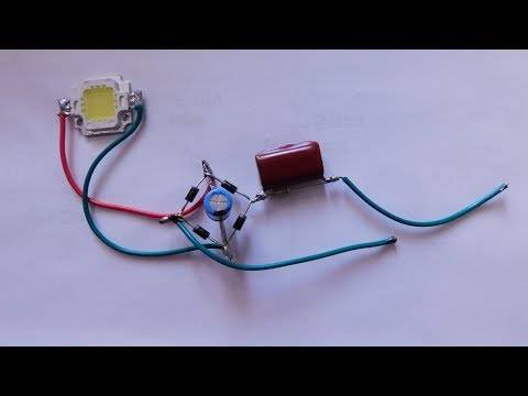 Подключение светодиодов: схема. подключение светодиодов к сети 220в