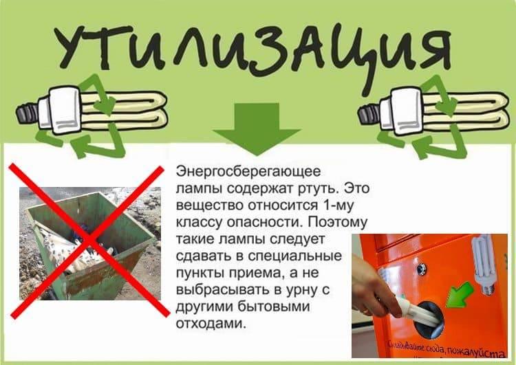 Утилизация люминесцентных (ртутных) ламп: прием и хранение