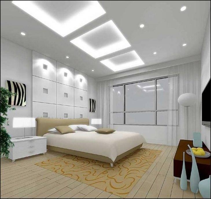 Точечное освещение потолков: фото и идеи размещения светильников