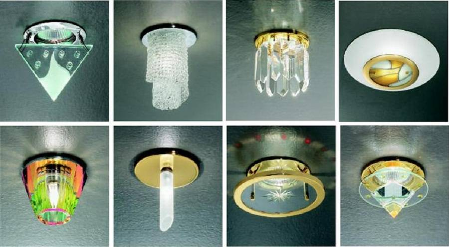 Какие светильники выбрать для натяжных потолков: виды современных моделей