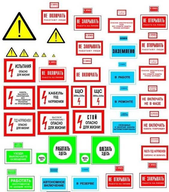 Плакаты и знаки по электробезопасности (виды, значение)