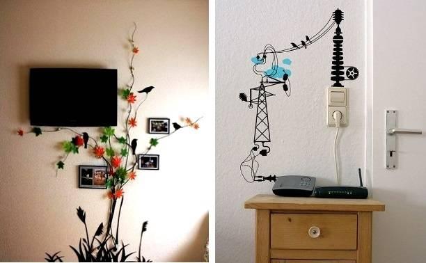 Как задекорировать кабель канал на стене?