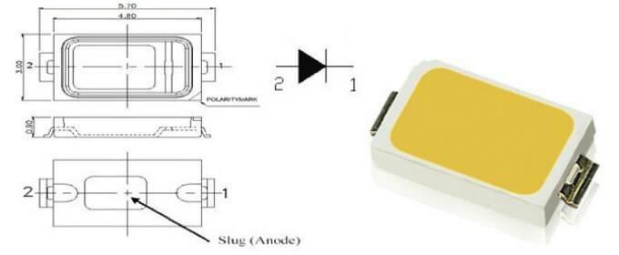 Подробные характеристики led smd 5730 (datasheet)