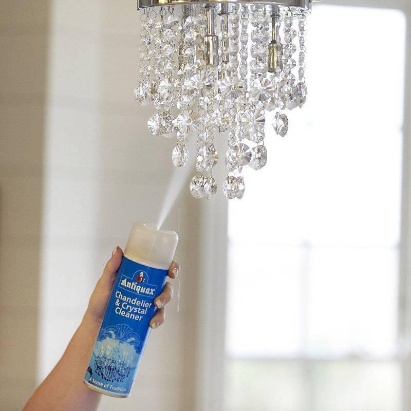 Чем помыть хрусталь, чтобы блестел в домашних условиях: люстру (не снимая)
