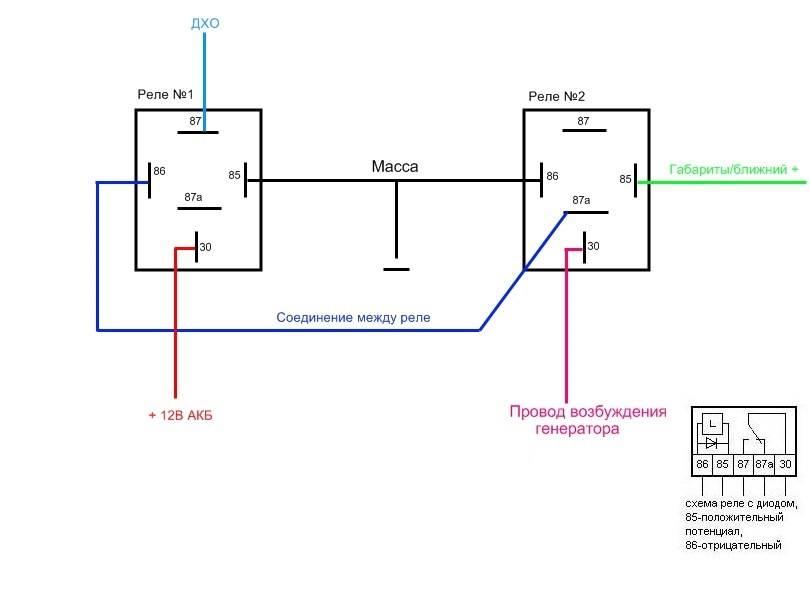 Все схемы подключения дневных ходовых огней