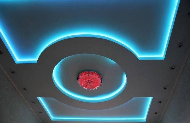Как сделать потолок из гипсокартона с подсветкой – пошаговое руководство