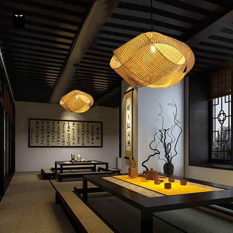 Люстры в японском стиле: разновидности, особенности, изготовление и монтаж