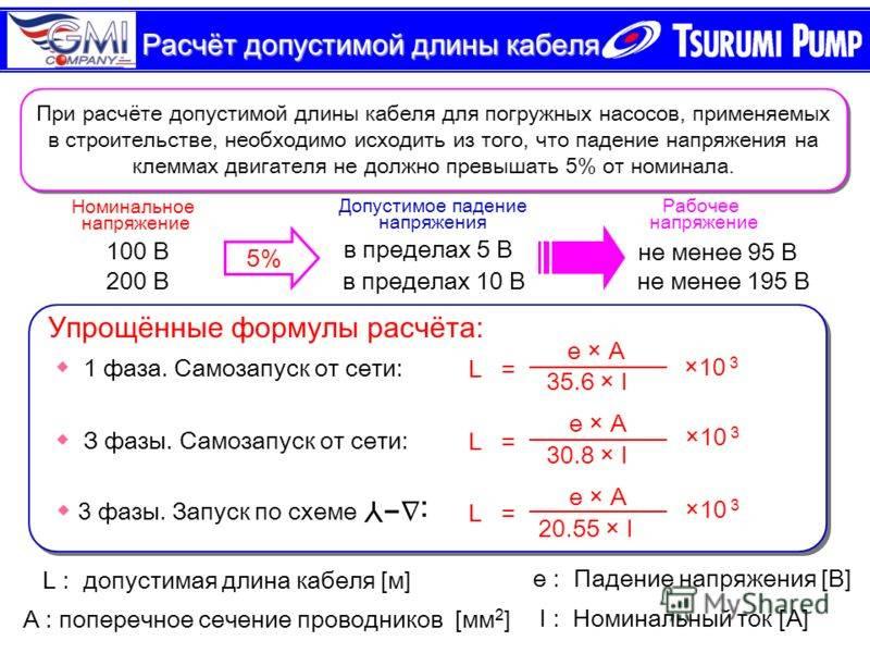 Пример определения потери напряжения в линии 10 кв
