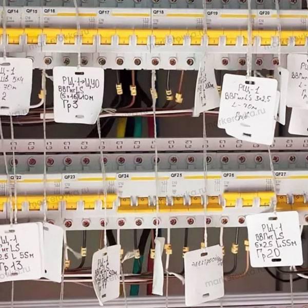 Маркировка проводов и кабелей при монтаже