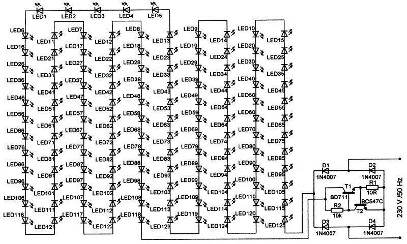 Схема светодиодной лампы на 220 в, как сделать лампочку своими руками