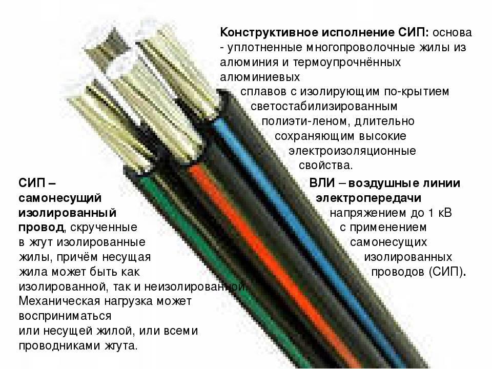 Свойства, маркировка и характеристики кабеля сип
