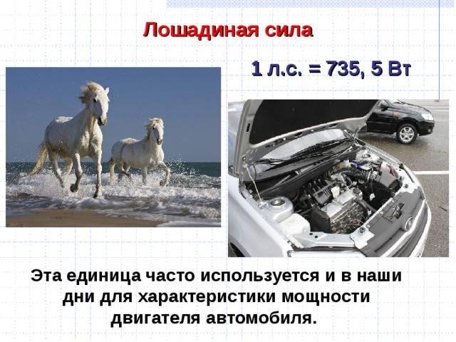 Почему мощность машины измеряется в лошадиных силах и как их считают