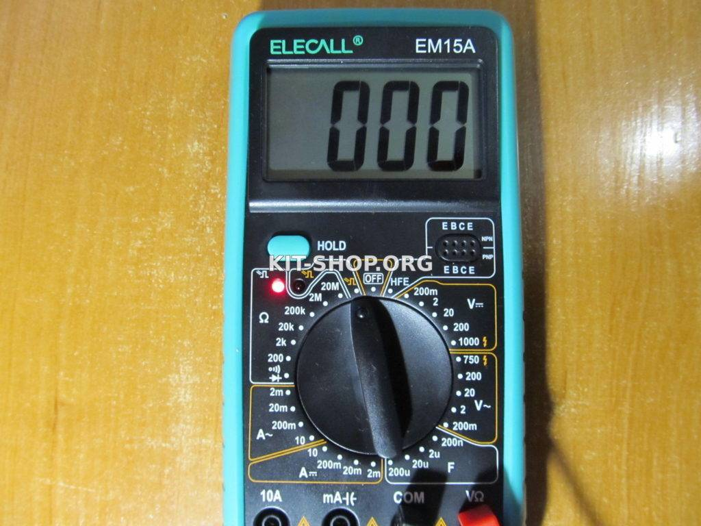 Как проверить исправность светодиода мультиметром