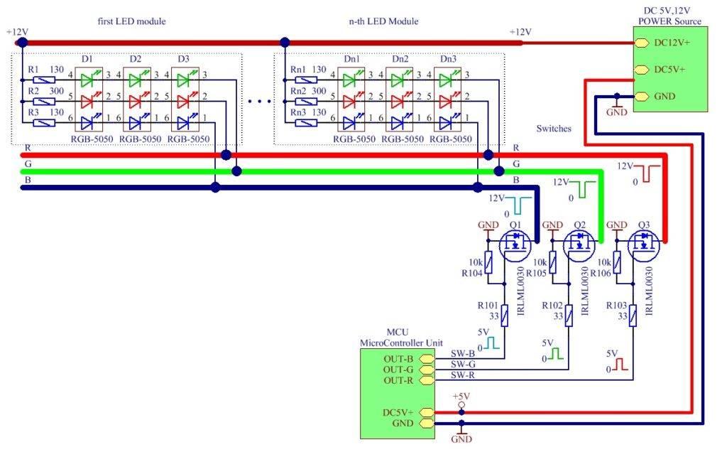 Rgb матрица ws2812b — самый простой способ управления rgb светодиодами