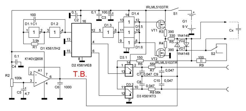Esr метр своими руками — измеритель емкости конденсаторов. схема и описание