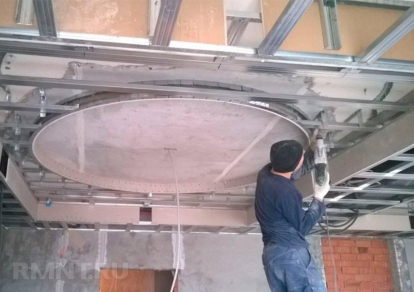 Как сделать гипсокартонный потолок с подсветкой своими руками: 49 фото