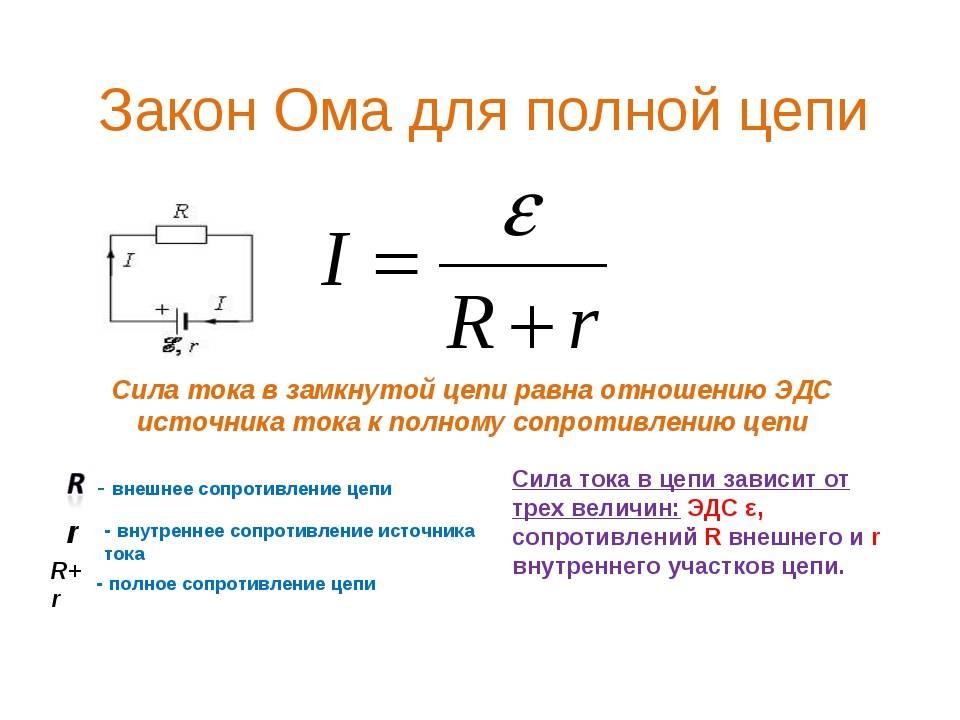 Закон ома для участка цепи и полной цепи: формулы и объяснение — ремонт и строительство
