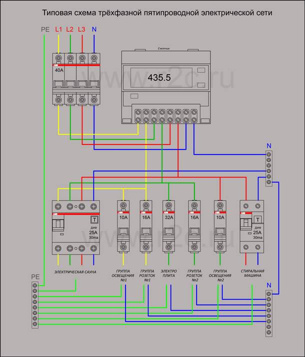 Электросчетчик энергомера трехфазный схема подключения