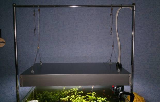 Крышка аквариума aquael – как заменить люминесцентную лампу светодиодной