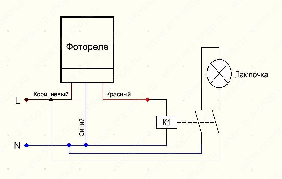 Фотореле для уличного освещения: схема подключения, схема фотореле