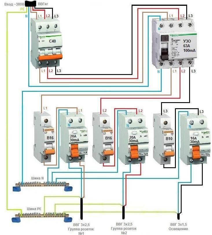 Узо что это такое в электрике, схема подключения