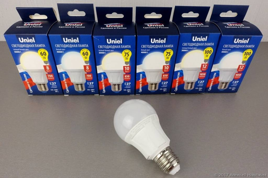 Производители светодиодных ламп в россии