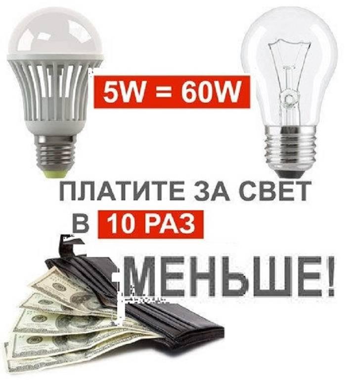 Светодиодные лампы - плюсы и минусы