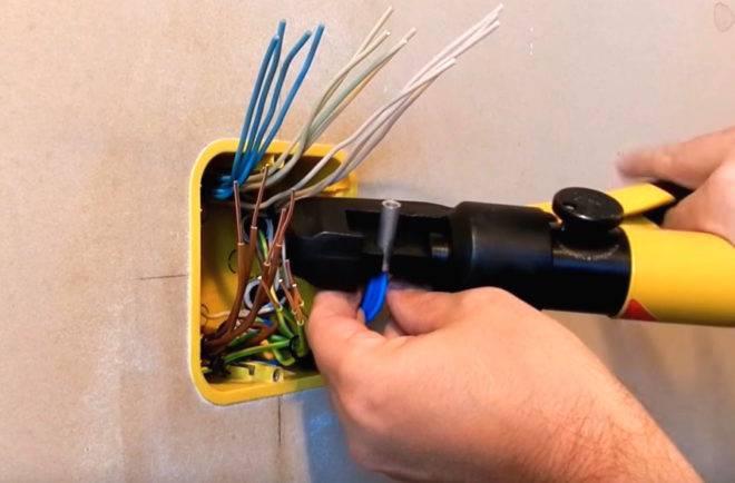 Гильза для обжима проводов, пресс для соединения