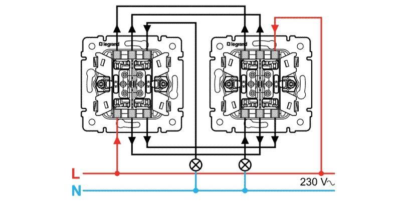 Как подключить выключатель легранд: с одной и двумя клавишами, с подсветкой