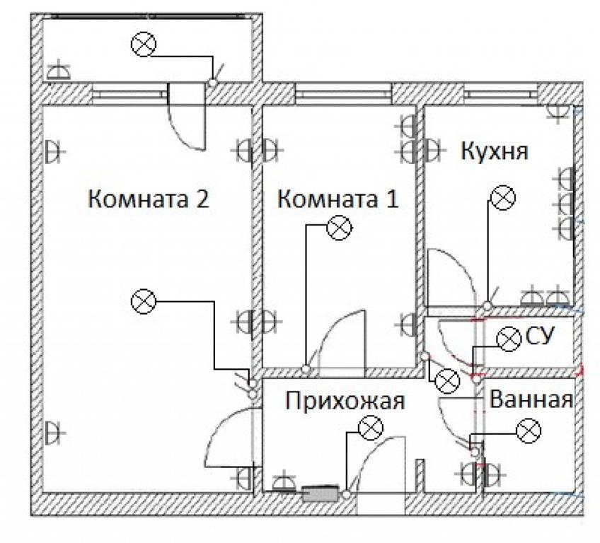 Замена электрики в трехкомнатной квартире пошагово, схемы электропроводки