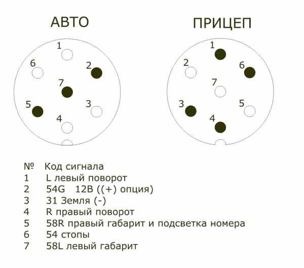 Схема подключения розетки прицепа легкового автомобиля - tokzamer.ru