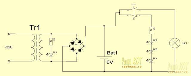 Самодельный фонарик из светодиодной ленты и сдохшей батареи шуруповерта