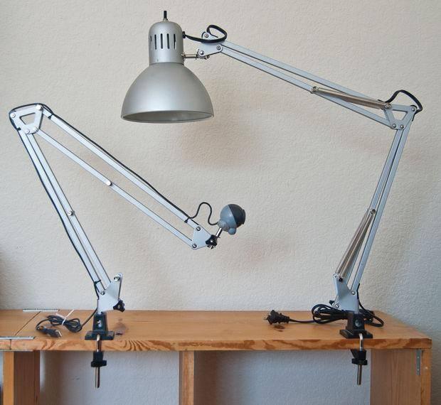 Как прикрепить настольную лампу к столу (инструкция)