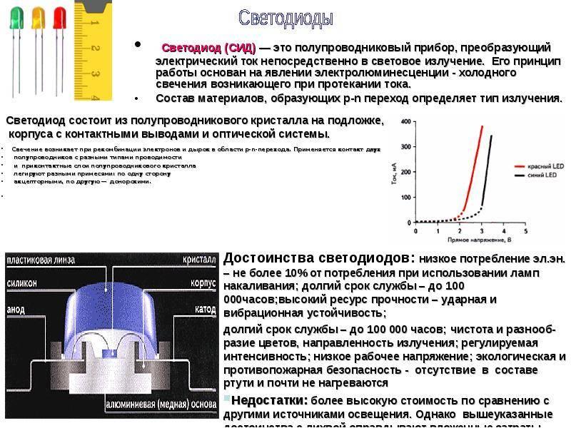 Как узнать мощность светодиода