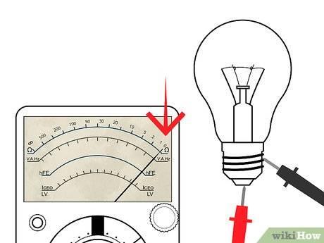 Как проверить работоспособность лампочки мультиметром