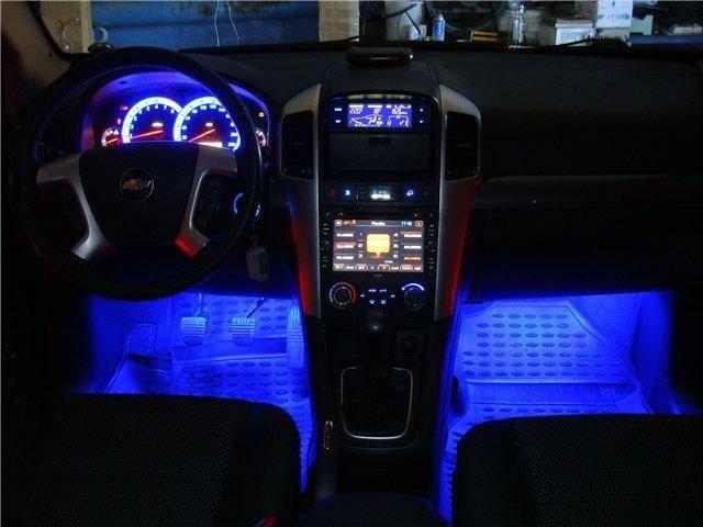 Как установить и подключить светодиодную ленту в машине своими руками + видео