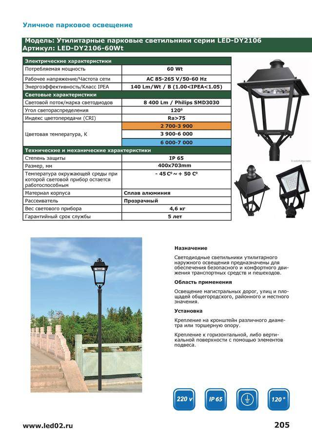 Уличное освещение: виды, требования, примеры реализации