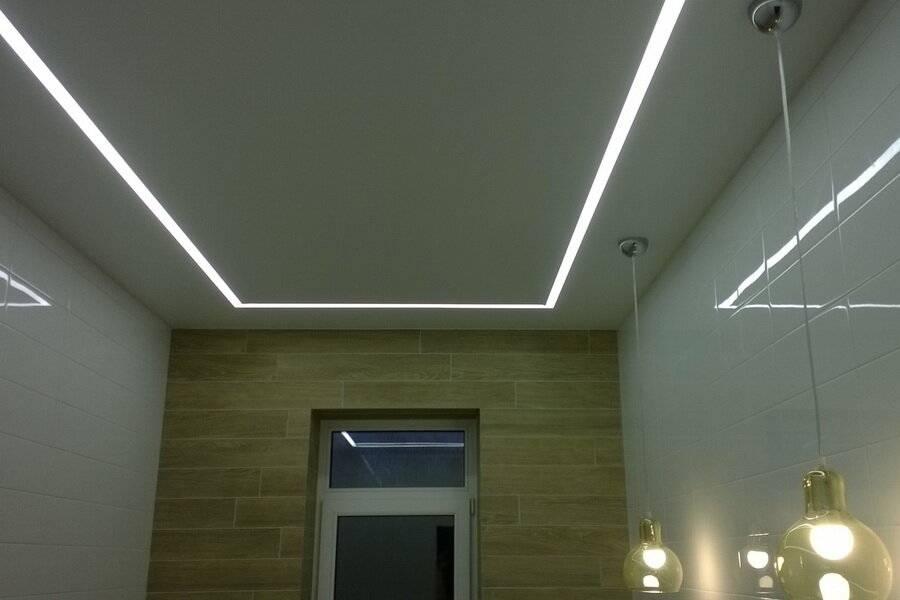 Подсвечиваем натяжной потолок светодиодной лентой изнутри