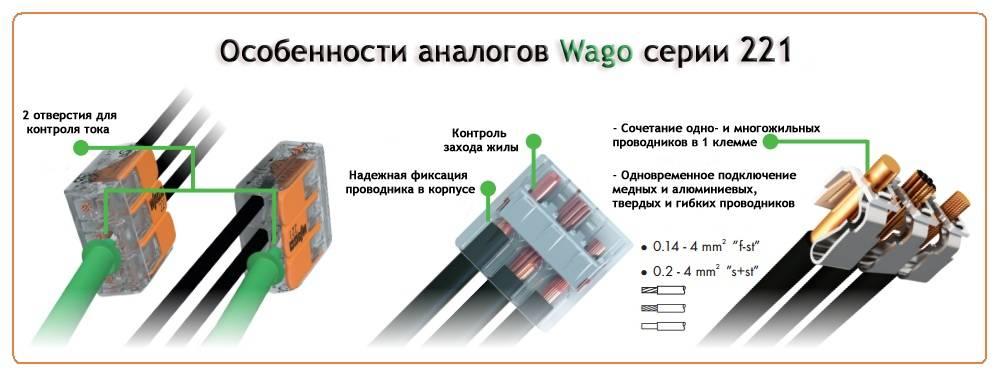 Клеммы wago для соединения проводов
