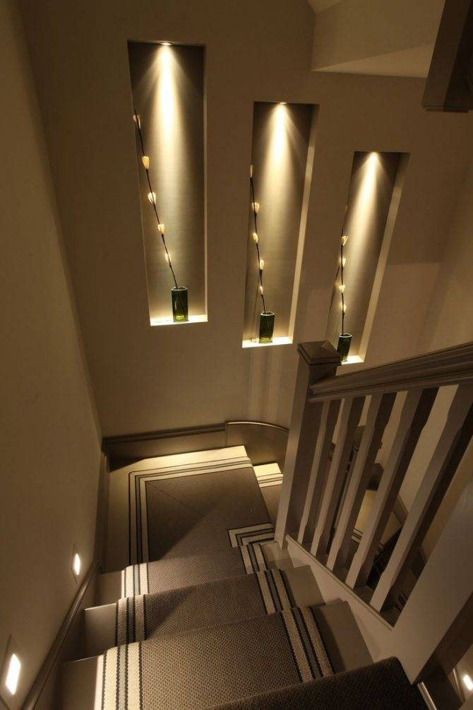 Как сделать освещение лестницы в частном доме