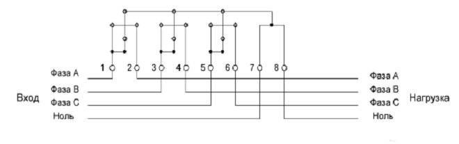 Схема подключения трехфазного счетчика: в однофазную сеть, новые правила