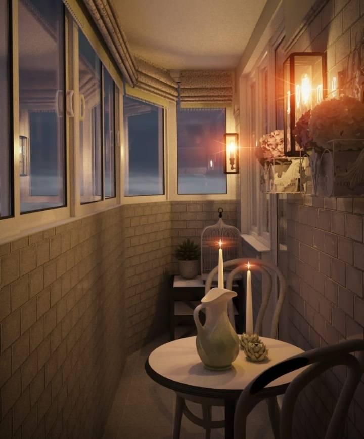 Как сделать освещение на балконе
