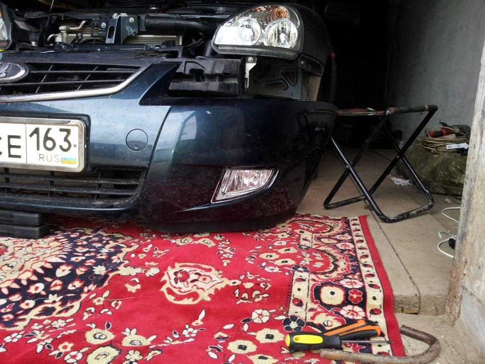 Замена лампочек в туманках приора – автотоп