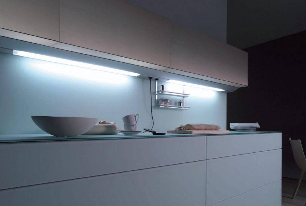 Светодиодная подсветка для кухни под шкафы: как сделать своими руками
