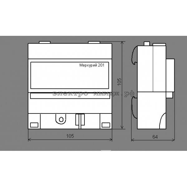 Схема подключения электрического счетчика меркурий