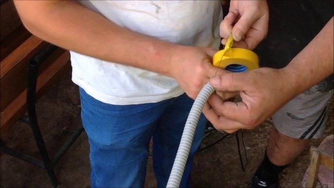 Гофра для электропроводки - назначение, виды и монтаж электропроводки в гофре