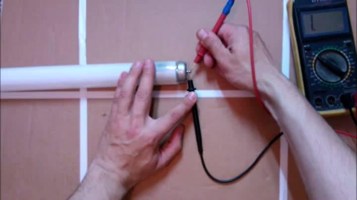 Как проверить электронный балласт лампы?